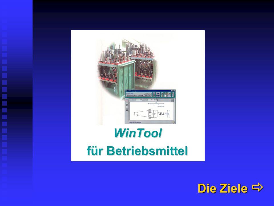WinTool für Betriebsmittel