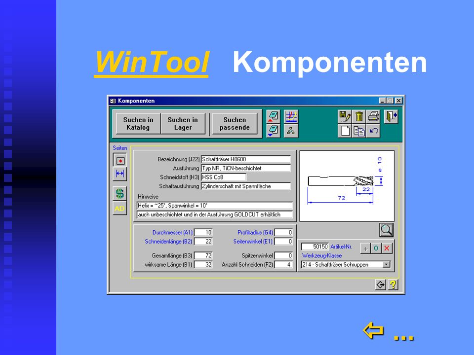 WinTool Komponenten  ...