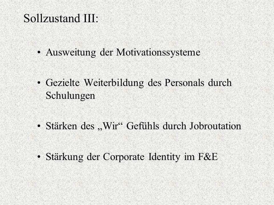 Sollzustand III: Ausweitung der Motivationssysteme