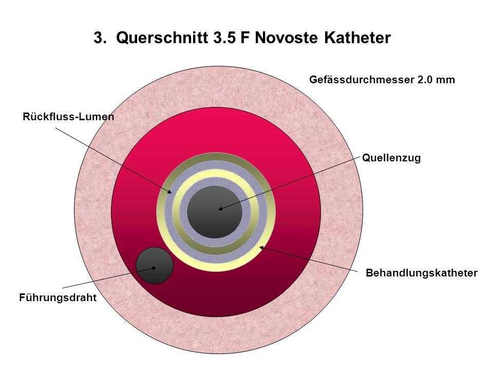 3. Querschnitt 3.5 F Novoste Katheter