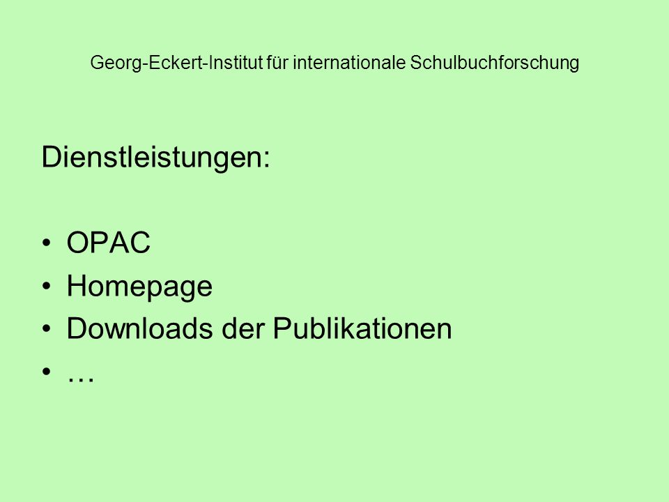 Georg-Eckert-Institut für internationale Schulbuchforschung