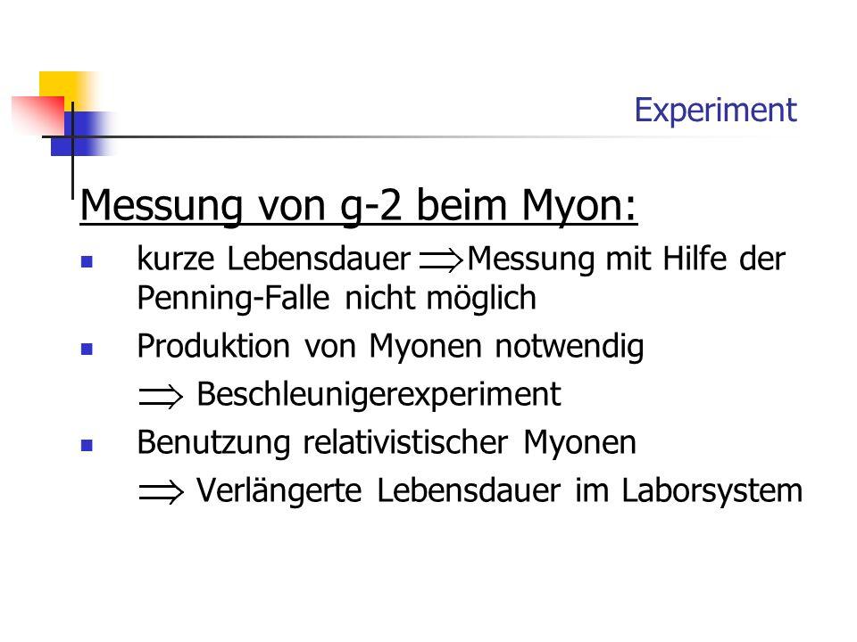 Experiment Messung von g-2 beim Myon: