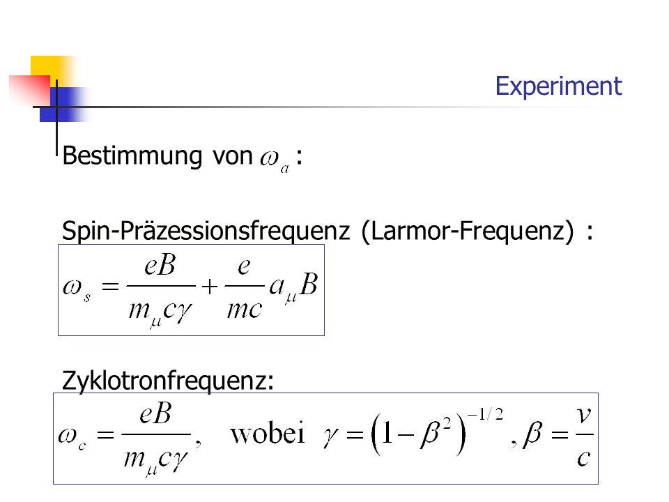 Experiment Bestimmung von :