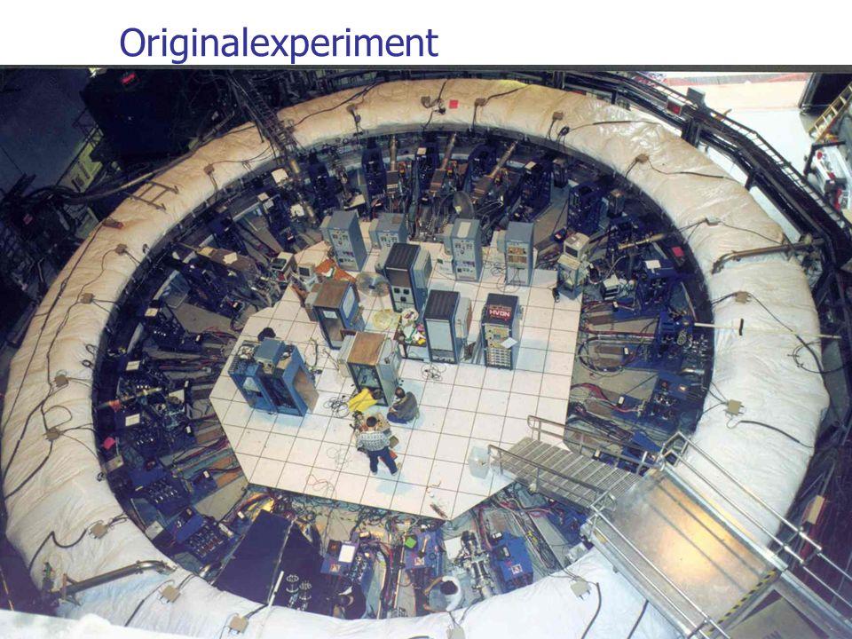 Originalexperiment Experimenteller Aufbau: