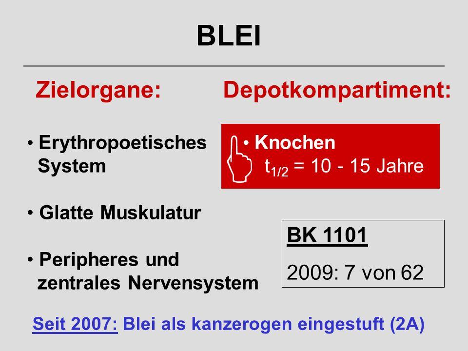 BLEI Zielorgane: Depotkompartiment: BK 1101 2009: 7 von 62
