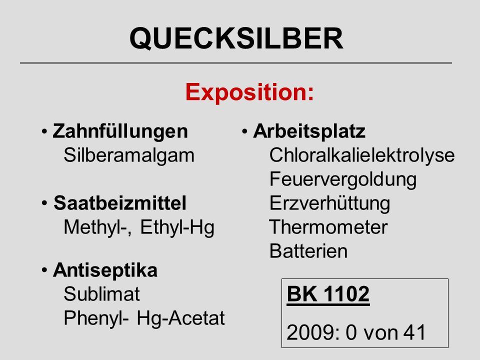 QUECKSILBER Exposition: BK 1102 2009: 0 von 41 Zahnfüllungen