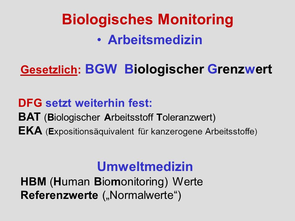 Biologisches Monitoring