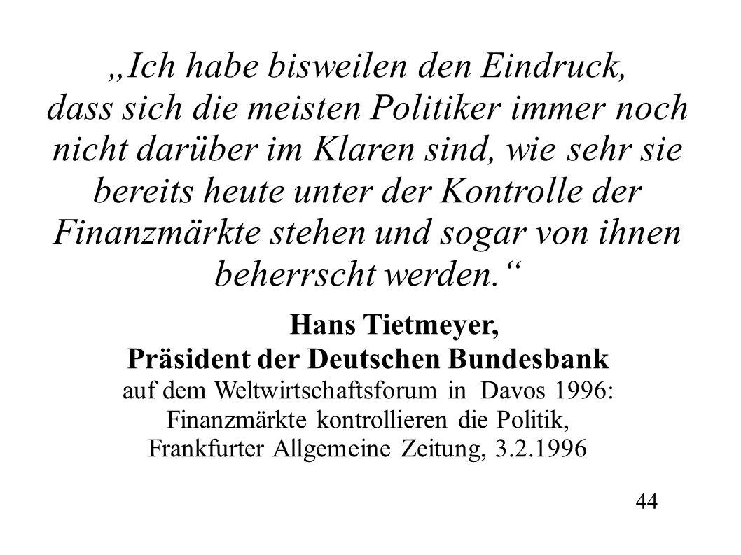Präsident der Deutschen Bundesbank