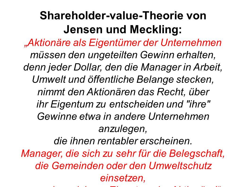 Shareholder-value-Theorie von