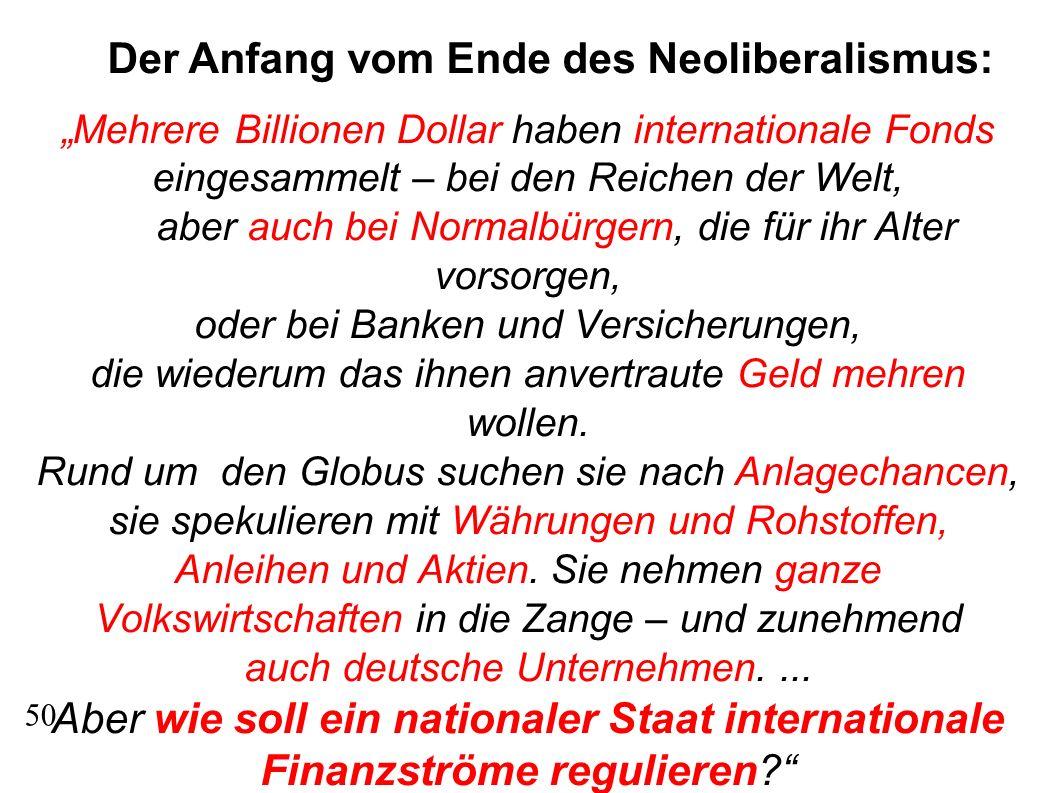 Aber wie soll ein nationaler Staat internationale