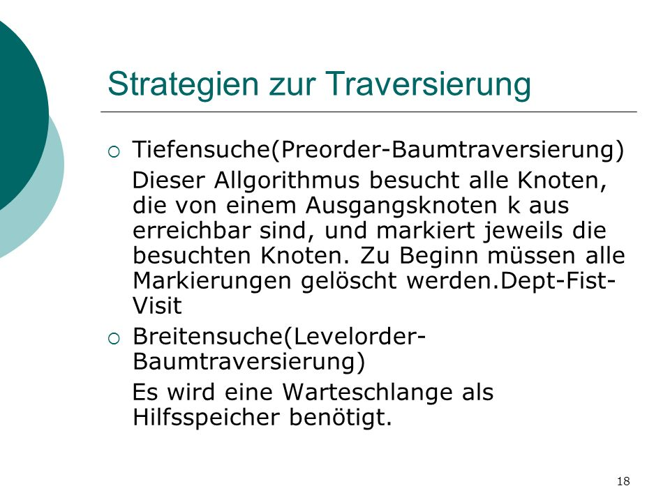 Strategien zur Traversierung