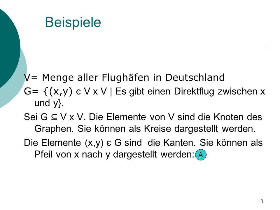 Beispiele V= Menge aller Flughäfen in Deutschland