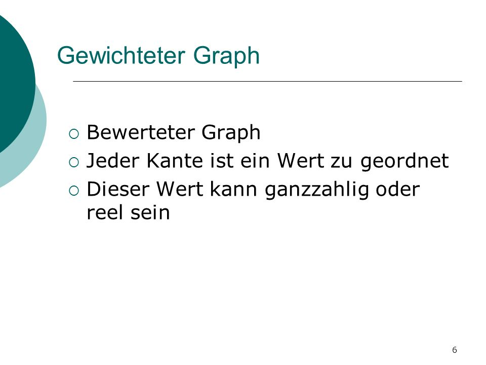 Gewichteter Graph Bewerteter Graph