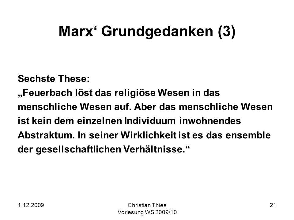 Marx' Grundgedanken (3)