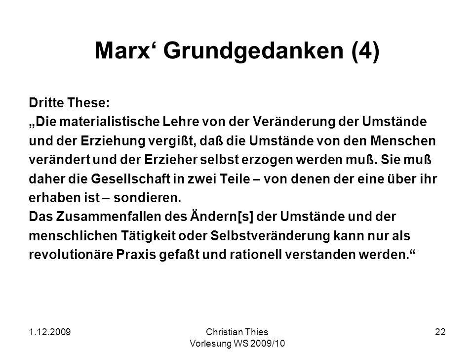 Marx' Grundgedanken (4)