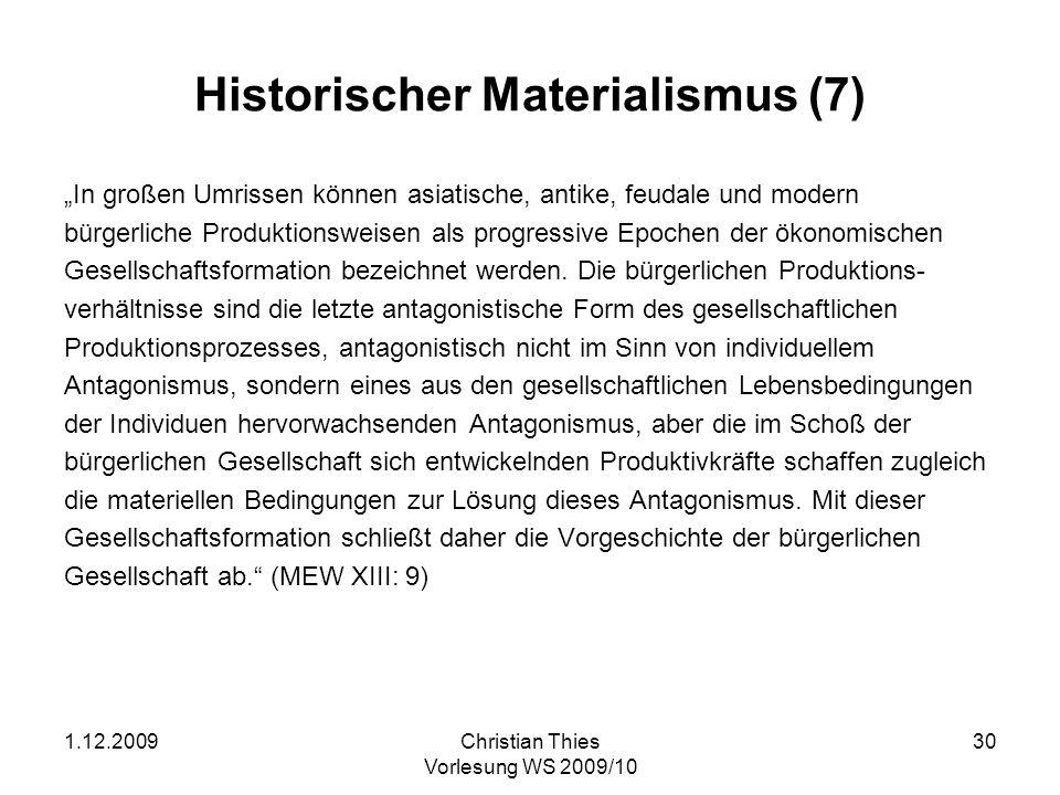 Historischer Materialismus (7)