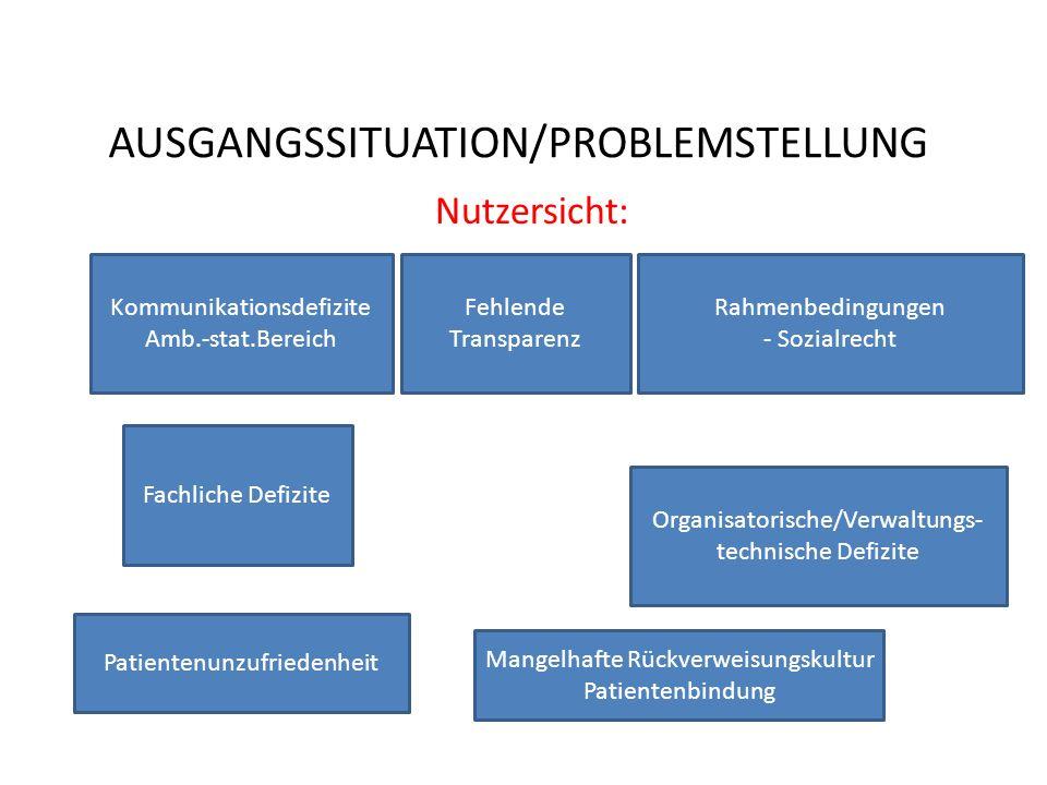 AUSGANGSSITUATION/PROBLEMSTELLUNG