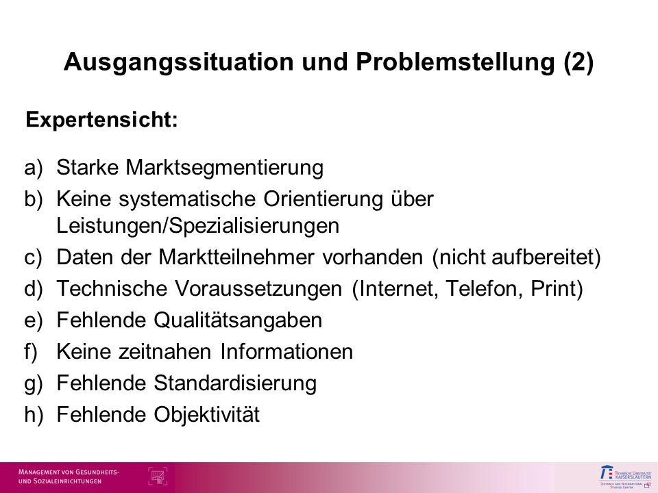 Ausgangssituation und Problemstellung (2)
