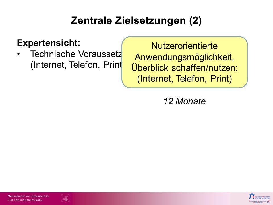 Zentrale Zielsetzungen (2)