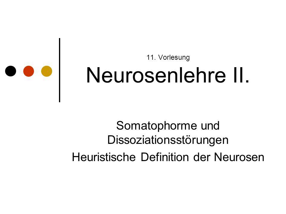 11. Vorlesung Neurosenlehre II.