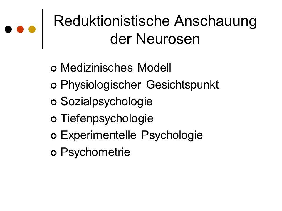 Reduktionistische Anschauung der Neurosen