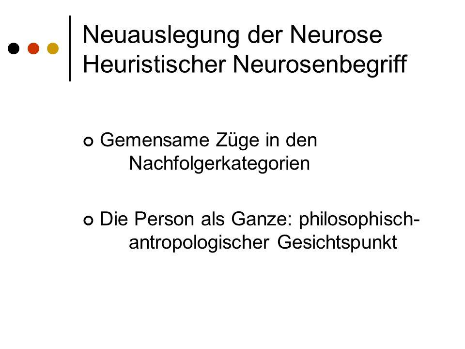 Neuauslegung der Neurose Heuristischer Neurosenbegriff