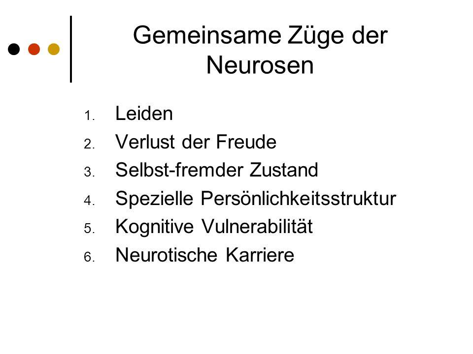 Gemeinsame Züge der Neurosen