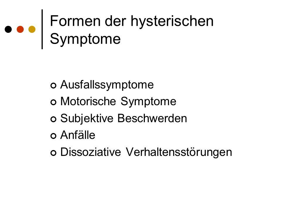 Formen der hysterischen Symptome