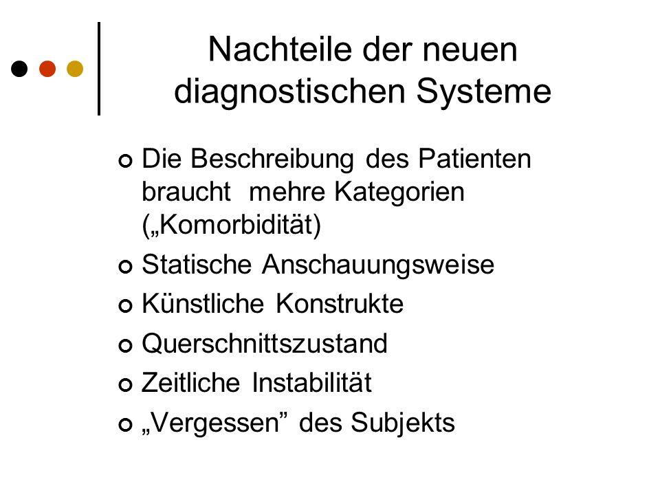 Nachteile der neuen diagnostischen Systeme