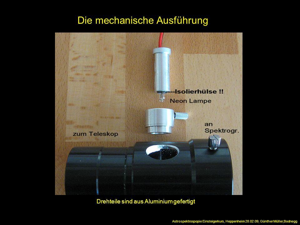 Die mechanische Ausführung