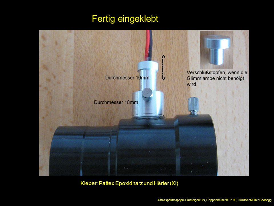 Fertig eingeklebt Kleber: Pattex Epoxidharz und Härter (Xi)