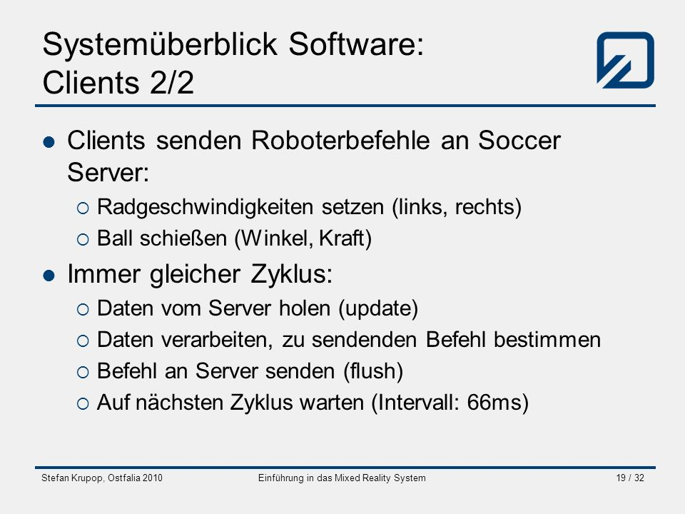 Systemüberblick Software: Clients 2/2