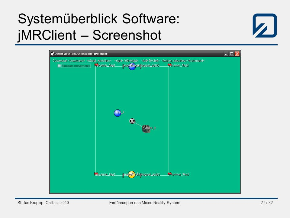 Systemüberblick Software: jMRClient – Screenshot