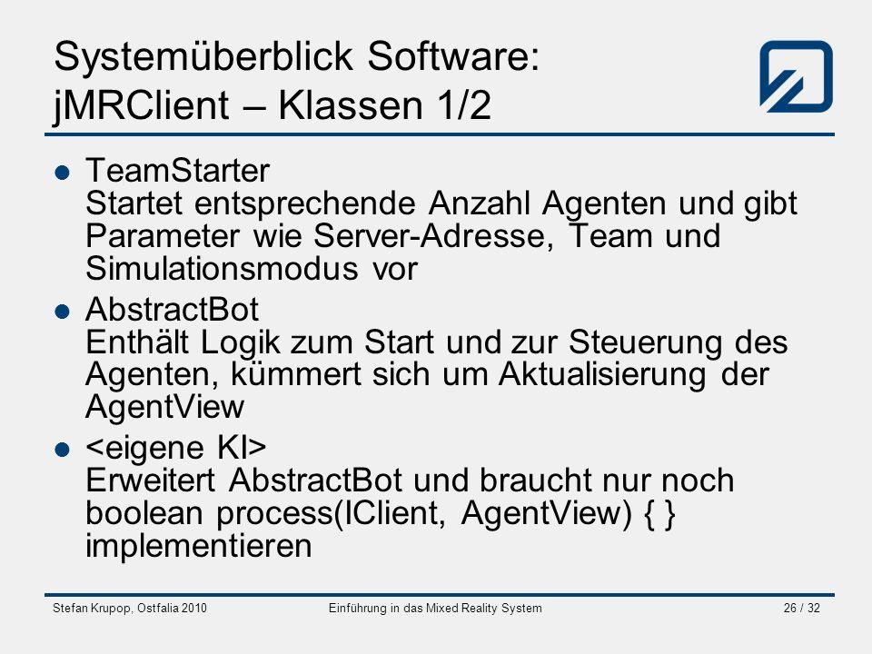 Systemüberblick Software: jMRClient – Klassen 1/2