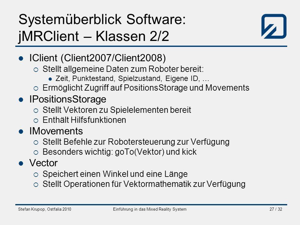 Systemüberblick Software: jMRClient – Klassen 2/2