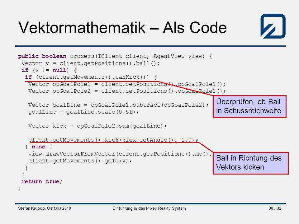 Vektormathematik – Als Code