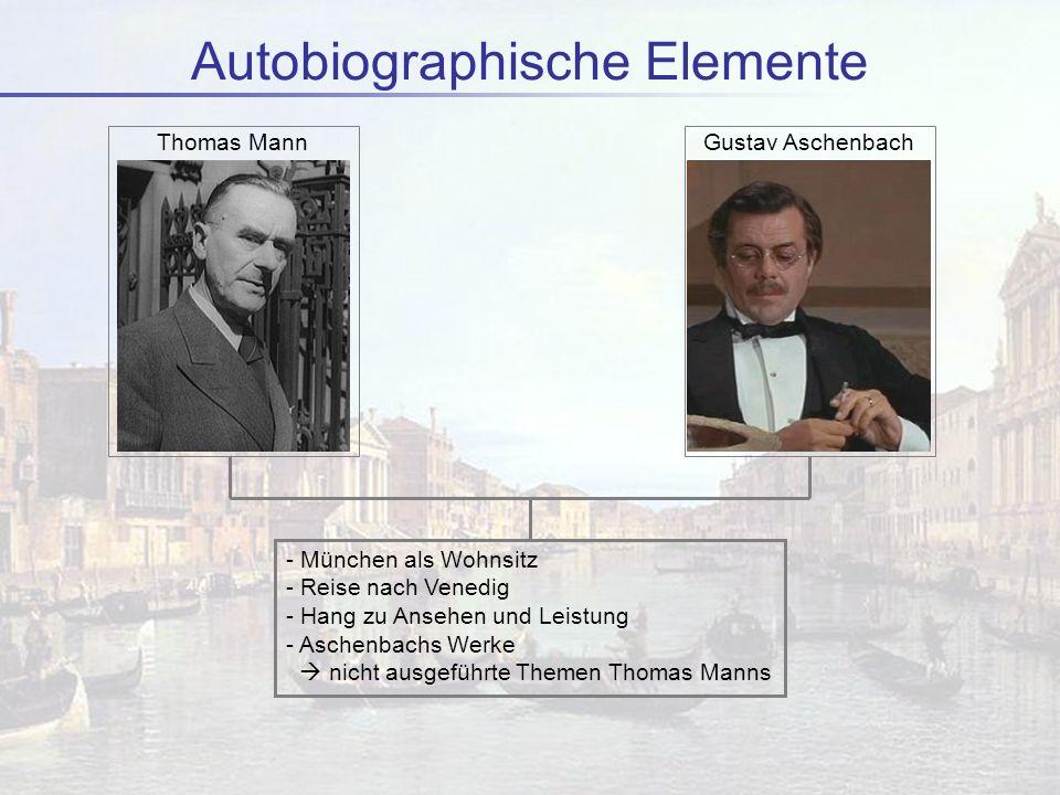 Autobiographische Elemente