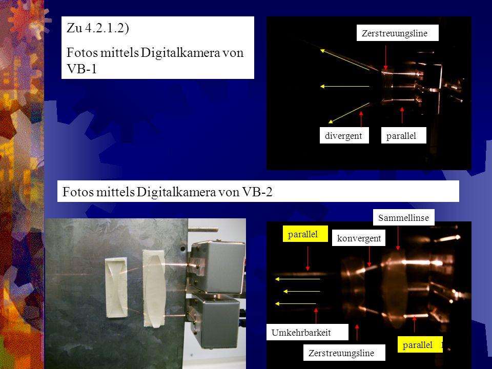 Fotos mittels Digitalkamera von VB-1