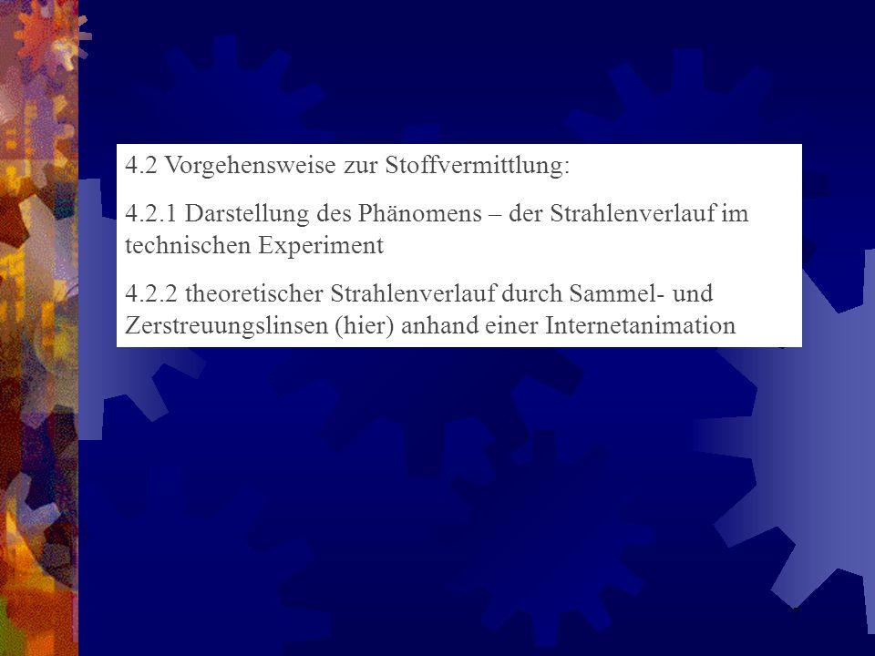 4.2 Vorgehensweise zur Stoffvermittlung: