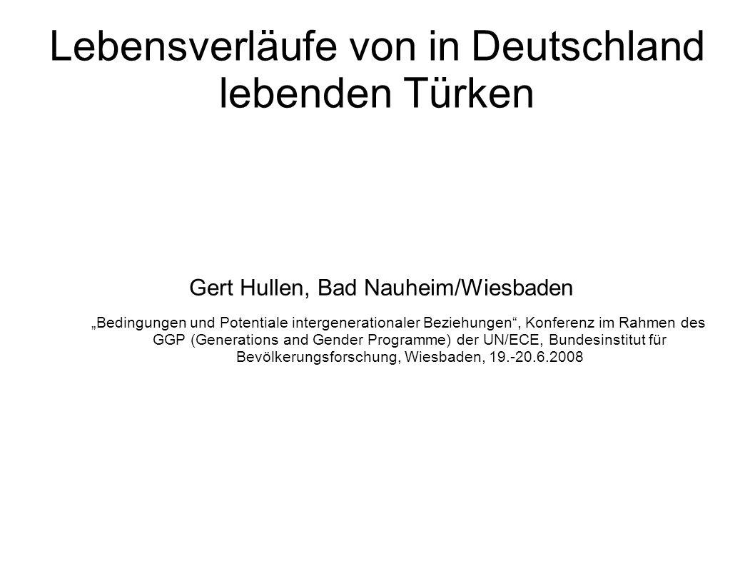 Lebensverläufe von in Deutschland lebenden Türken