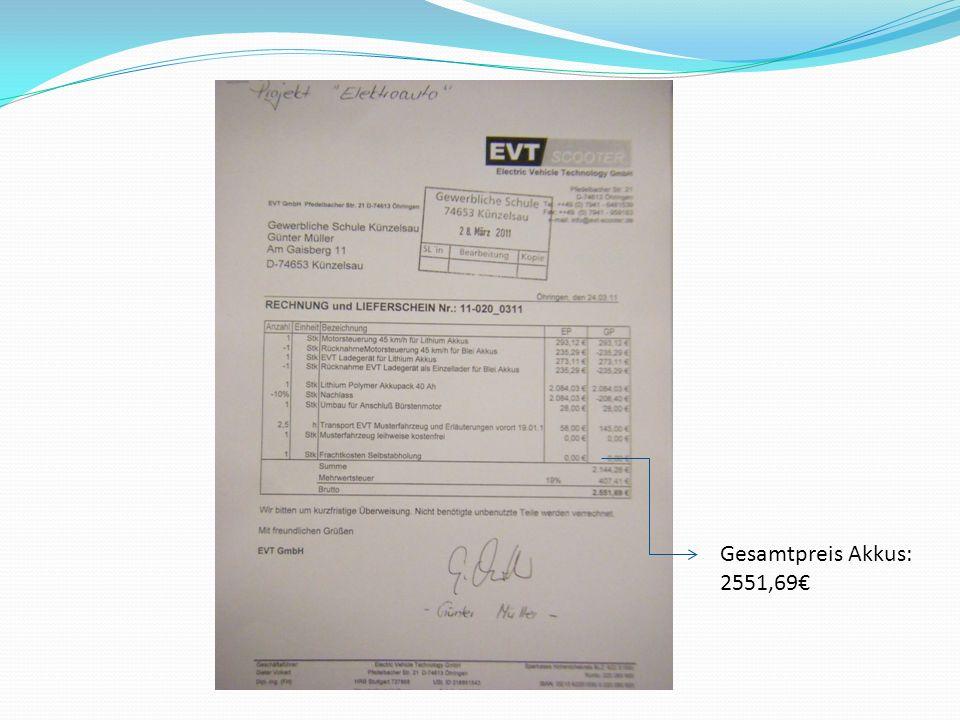 Gesamtpreis Akkus: 2551,69€