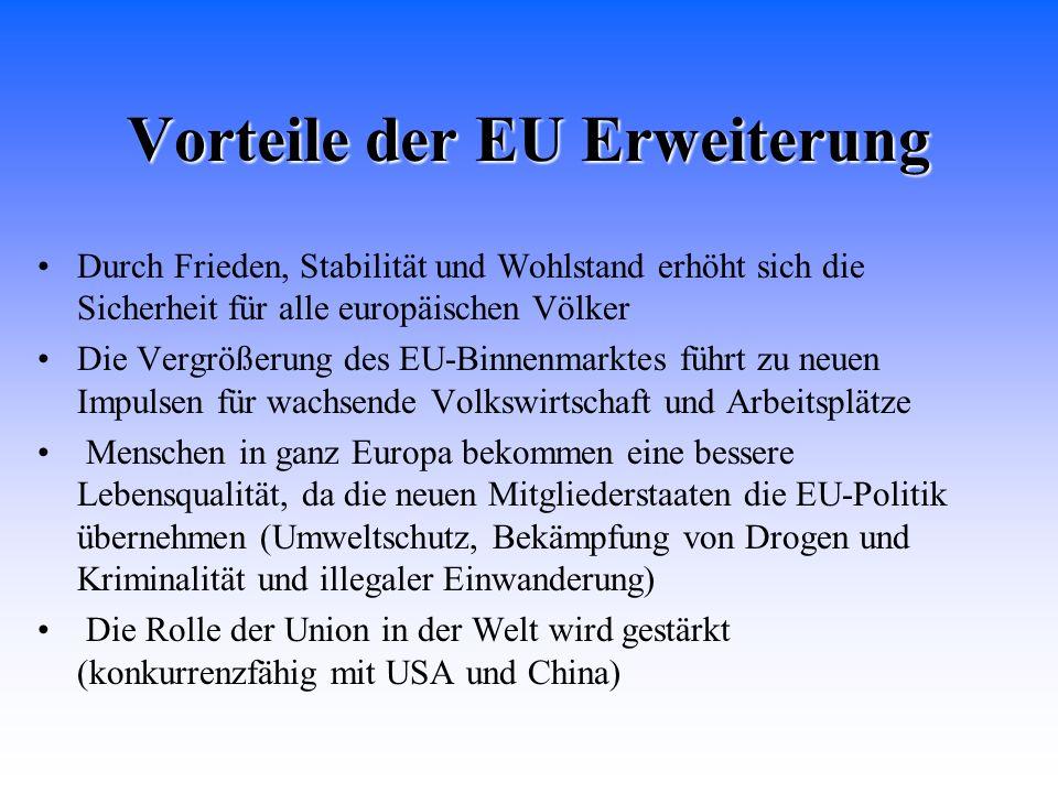 Vorteile der EU Erweiterung