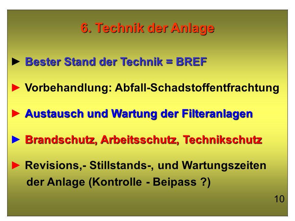 6. Technik der Anlage ► Bester Stand der Technik = BREF
