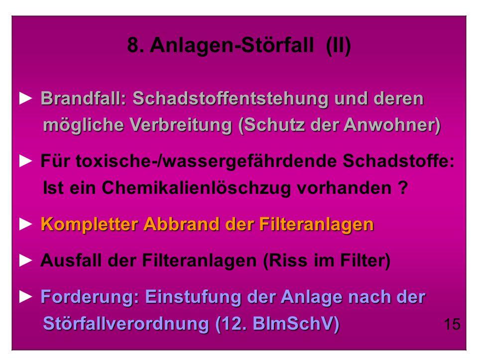 8. Anlagen-Störfall (II)