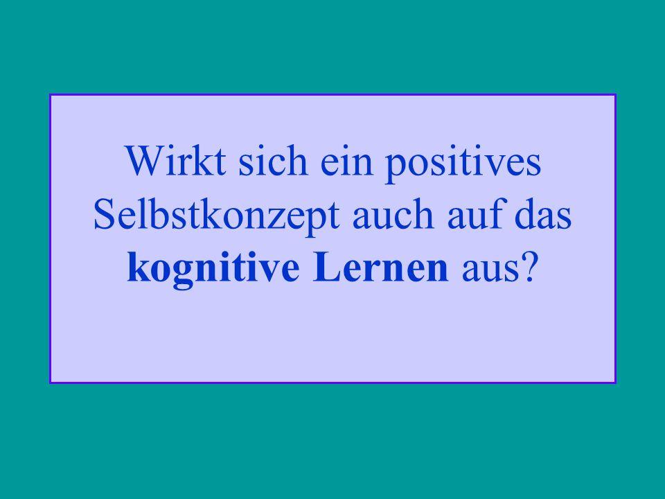 Wirkt sich ein positives Selbstkonzept auch auf das kognitive Lernen aus