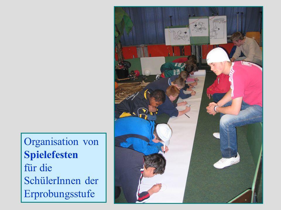 Organisation von Spielefesten für die SchülerInnen der Erprobungsstufe