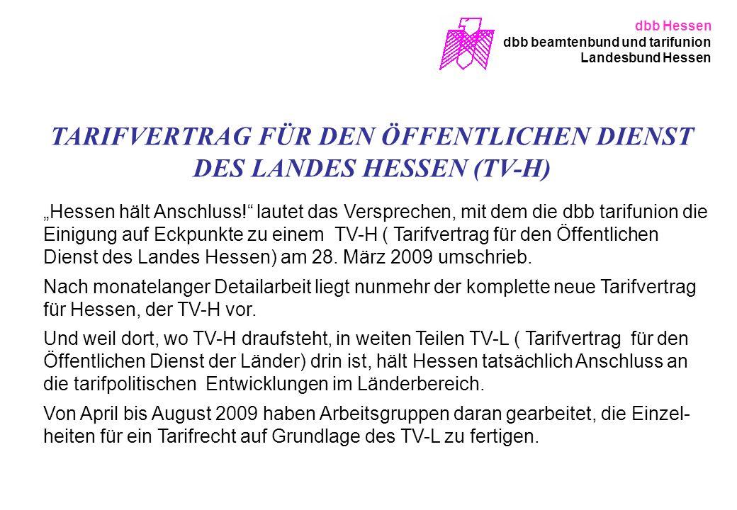 TARIFVERTRAG FÜR DEN ÖFFENTLICHEN DIENST DES LANDES HESSEN (TV-H)