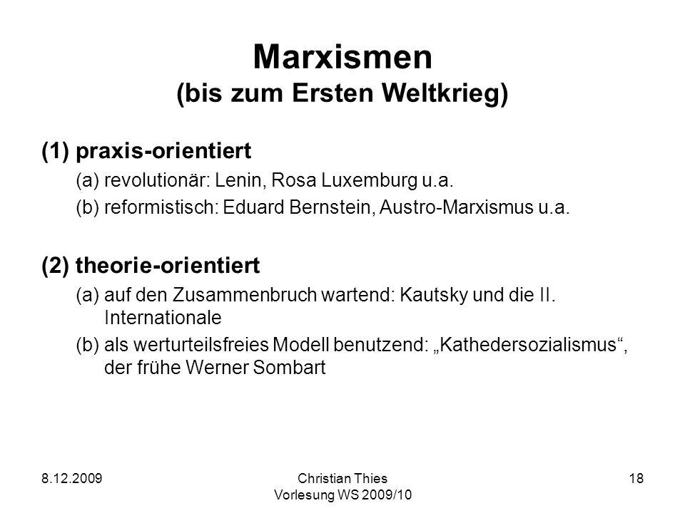 Marxismen (bis zum Ersten Weltkrieg)