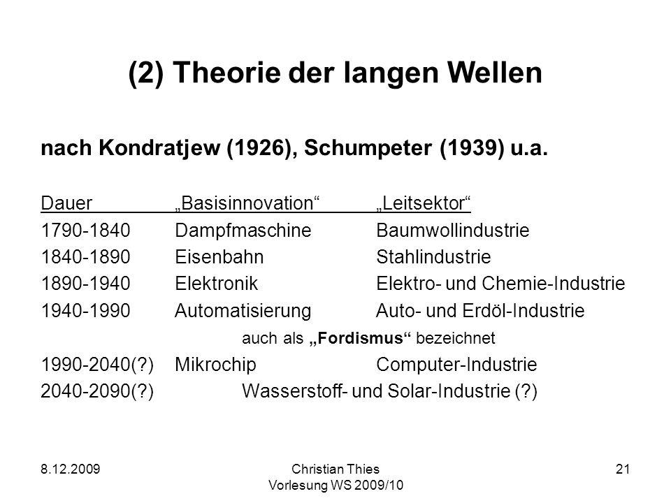 (2) Theorie der langen Wellen