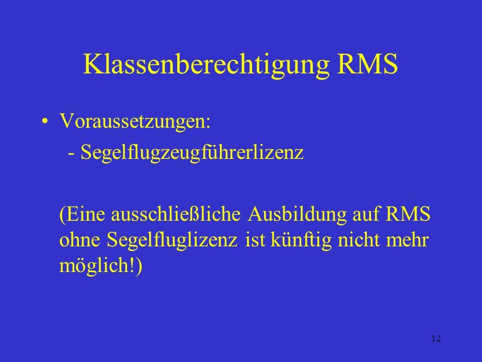 Klassenberechtigung RMS